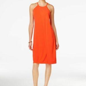 3/$30 BAR III Halter Neck Shift Dress Orange XXS